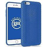 AndMesh iPhone 6s Plus ケース メッシュケース ブルー AMMSC631-BLU