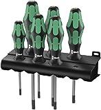 Wera Kraftform Plus 367/6  Torx Screwdriver Set and Rack, 6-Piece