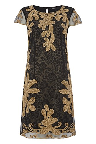 Womens Tapework Embroidered Dress - Ladies - Metallic - Size 10 18