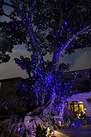 Fairy Firefly Outdoor Laser Lights Color Blue with Transformer ...