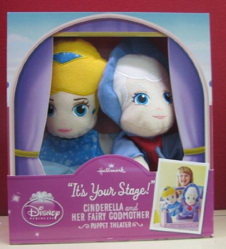 Hallmark-Kid-Plush-KID3175-Disney-Cinderella-and-Her-Fairy-Godmother-Puppet-Theater
