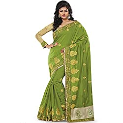 chanderi silk saree with resham & zari work designed by vasu saree
