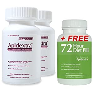 Apidextra 2 Bottles and 1 Free 72 HDP - Diet Pills That Work Fast for Women - Fast Acting Diet Pills That Work