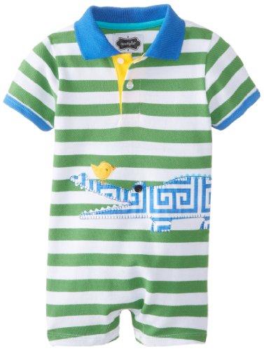Mud Pie Baby-Boys Newborn Alligator 1 Piece, Green/Blue, 9-12 Months front-1053848