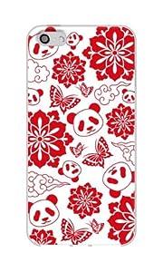 Apple / SoftBank / au iPhone5対応 携帯ケース 300花と蝶とパンダ TPU