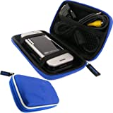 IGadgitz Blue Eva Hard Case Cover for Optoma PK101 Pico Portable Digital Projector