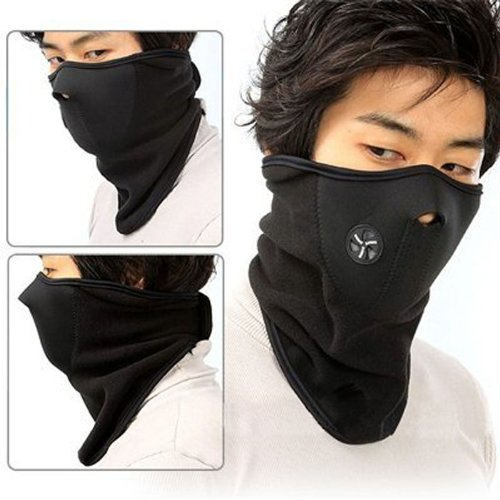 Learn More About Cgecko Face Nose Neck Ski Snowboard Bike Motorcycle Mask Warm (Black)