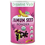 Organic Jamun Seed Powder - 1 Lb. 100% Pure and Natural Raw Herb Super Food Supplement. Non GMO, Gluten FREE. US FDA Registered Facility. All Natural!