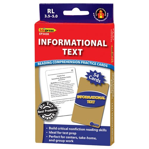 Informational Text Reading Comprehension Practice Cards, Blue Level (RL 3.5-5.0)