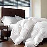 LUXURIOUS FULL / QUEEN Size Siberian GOOSE DOWN Comforter, 1200 Thread Count 100% Egyptian Cotton 750FP, 60 oz, 1200TC, White Solid