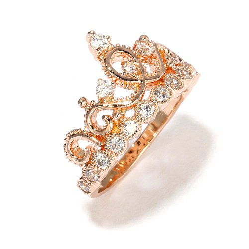 sterling silver crown ring princess ring gold