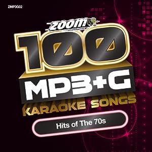 Zoom Karaoke MP3+G Disc - 100 Songs - Hits of The 70s