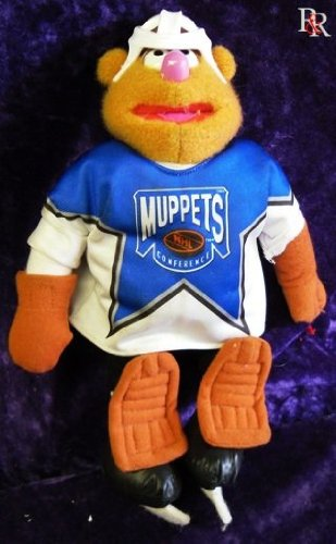 1995 JIM HENSON'S MUPPETS FOZZIE NHL McDONALDS CANADA PLUSH DOLL IN SEALED BAG WITH TAG - 1