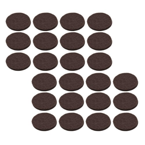 Stanley S845-299 1/2 Inch Round Medium Duty Self Adhesive Brown Felt Pads Pack Of 24 front-1000889