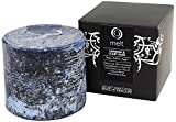 Melt Short and Fat Hand Poured Verbena and Clary Sage Scented Candle Pillar, Deep Blue