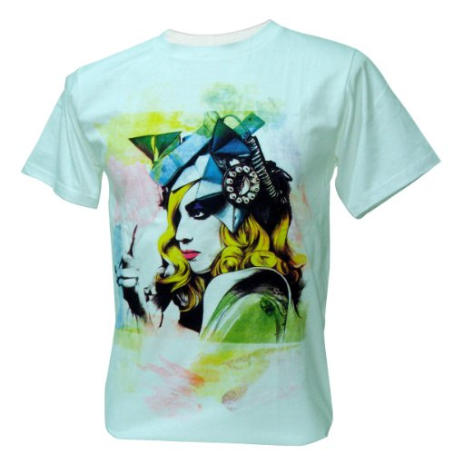 Immortal メンズ Lady Gaga Watercolour Paint Pop Dance Tシャツ