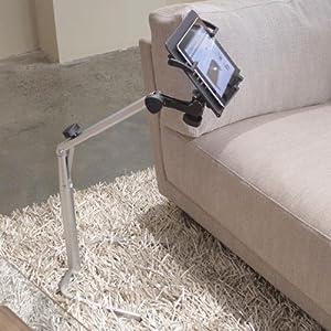 Adjustable Height Tablet Stand Black Plastic