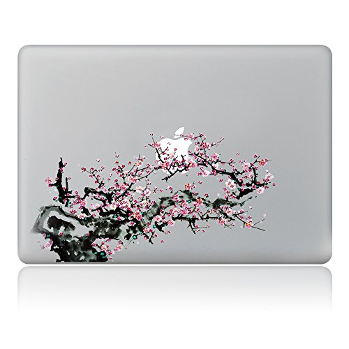 Decorative Laptop Decal – Lee's Collection Traditional Chinese Painting Wintersweet Plum Blossom Series Removable Vinyl Sticker Bubble-free Self-adhesive Skin for Apple MacBook Air / MacBook Pro