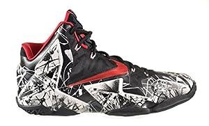 Nike Lebron XI Men's Basketball Shoes White/University Red-Black 616175-100 (13 D(M) US)