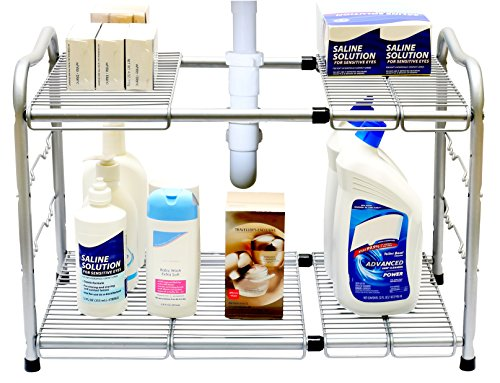 top rated under kitchen sink organizer shelf under sink storage units kims five things. Black Bedroom Furniture Sets. Home Design Ideas