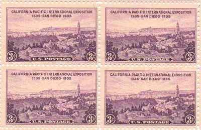 Ca Pac International Exposition Set of 4 x 3 Cent US Postage Stamp NEW Scot 773