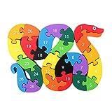 Pixnor Serpiente de madera del alfabeto rompecabezas juegos educativos juguetes de inteligencia para ni�os
