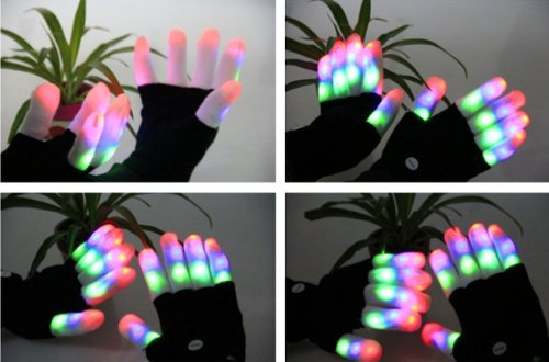 Men's diary LED Gloves Party Light Show Gloves- 7 Light Flashing Modes. The Best Gloving & Lightshow Dancing Gloves for Clubbing, Rave, Birthday, EDM, Disco, and Dubstep Party