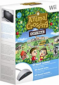 Animal Crossing City Folk and Wii Speak Microphone Bundle