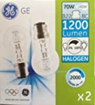 GE GLS 70�W (= 92�W) BC B22�Ampoules...