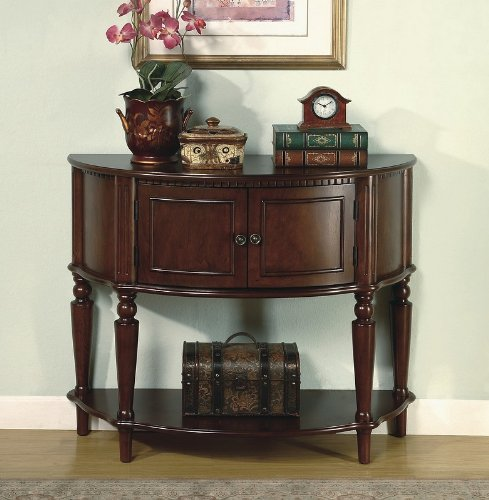 Cheap Brown Finish Storage Entry Way Console Table / Hall Table (VF_950059)