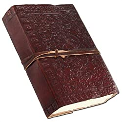 Medieval Renaissance Flower Leather Handmade Diary