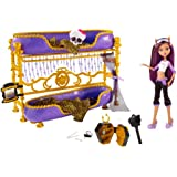 Monster High Clawdeen Wolf Doll and Bed Dead Tired Playset