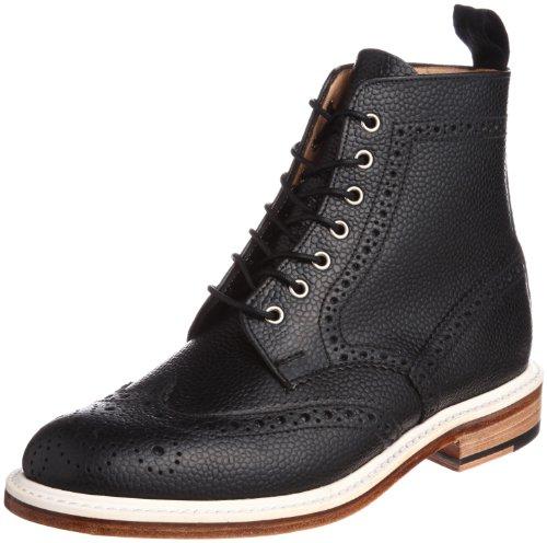 [マークマクナイリー] Mark McNairy Country Brogue Boot 9259BG1 Army Grain Black(Army Grain Black/8)