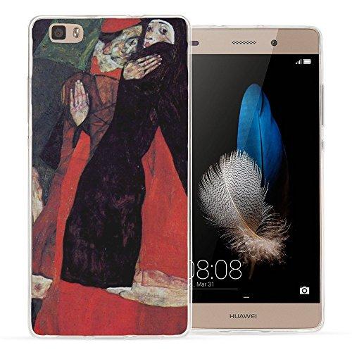 schiele-cardinal-and-nun-the-caress-cristallino-custodia-protettiva-in-gel-silicone-caso-ultra-sotti
