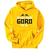 Go-Kart Racing Guru Sports Mens Hoodie (Yellow, Sizes X-Small - XXX-Large)