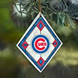 Chicago Cubs Stained Glass Ornament
