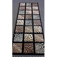 Animal Prints Rug Runner 32 In. X 7 Ft. Sculpture 251 Black