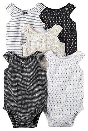 Carter's Baby Girls Multi-Pk Bodysuits 126g548, White, 12 Months Baby