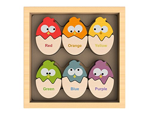 BeginAgain Color 'N Eggs Matching Puzzle - Educational Puzzle - Learn with the Color Puzzle that has English AND Spanish! - Fun Puzzle Game + Perfect Preschool Puzzle