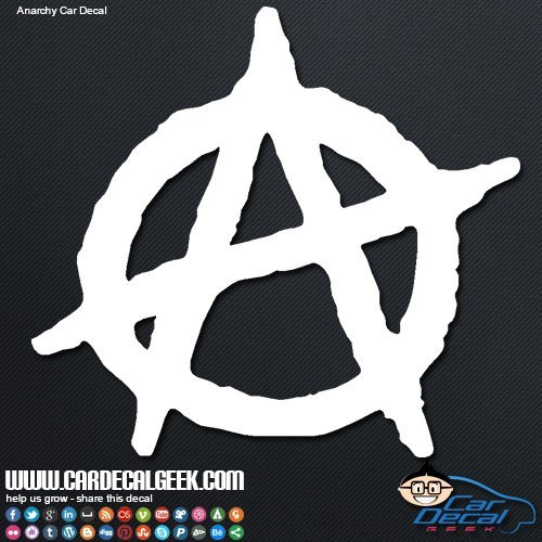 Anarchy Car & Truck Window Decal Sticker, Laptop Decal Sticker, Macbook Decal Sticker, Wall Decal Sticker , 8-Inch , Blue (Anarchy Emblem compare prices)