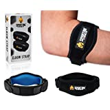 Tennis Elbow Brace SPARTAN STRENGTH (2 Count) - Effective Tennis & Golf Elbow Support Band with Adjustable Strap and Compression Therapy Pad