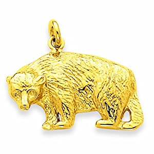 14k Bear Charm