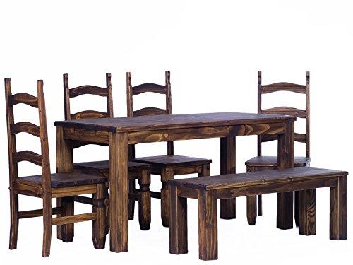 Esstisch Eiche Massiv Antik Geölt ~ Rio Classico 90 x 73 cm – Pinie Massivholz Brasilmöbel Eiche antik