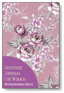Gratitude Journal For Women – With Inspirational Quotes. A lavender floral pattern covers this 5-minute gratitude journal for the busy woman.