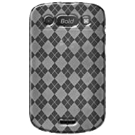 Amzer AMZ91367 Luxe Argyle High Gloss TPU Soft Gel Skin Case for BlackBerry Bold 9900/9930 (Clear)