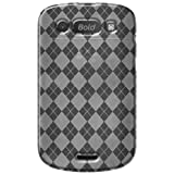 Amzer Luxe Argyle High Gloss TPU Soft Gel Skin Case for BlackBerry Bold 9900/9930 - Clear