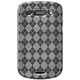 Amzer AMZ91367 Luxe Argyle High Gloss TPU Soft Gel Skin Case for BlackBerry Bold 9900/9930 (Clear)