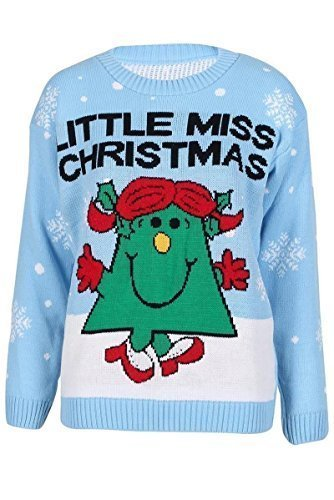 NEW-WOMENS-LADIES-LITTLE-MISS-CHRISTMAS-XMAS-RETRO-SNOWY-JUMPER-PULLOVER