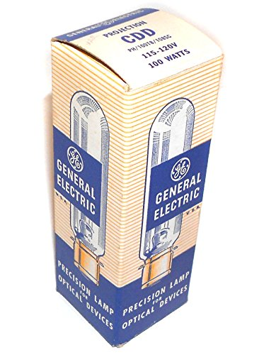 NOS General Electric CDD 100 Watt, 120 Volt Projector Lamp Light Bulb (Lightbulb 120v 100w compare prices)