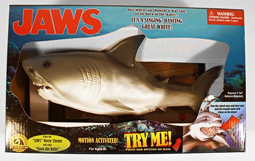 Motion Activated Jaws - A Singing, Dancing Great White! (Singing Bass Fish compare prices)